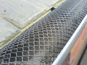 Gutter Guard Mesh No Blocked Leaves Gutters Guttering 16cm Height 10M Pack Black