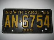 1965 North Carolina License Plate