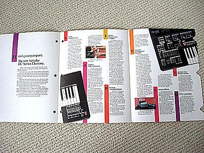 Yamaha HC-4 / HC-2 Electone keyboard / organ brochure segunda mano  Embacar hacia Argentina