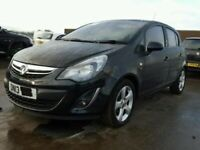 VAUXHALL CORSA D BLACK DOOR BREAKING SPARES PARTS 2013 2014 FACELIFT