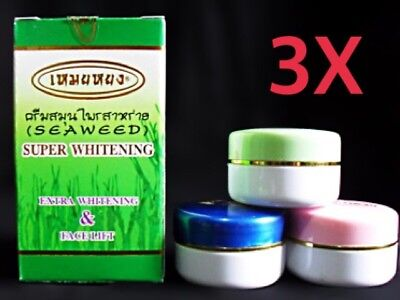 3X Meiyong Natural Algae Skin Super Extra Whitening, Cream Seaweed Face Lift  Top