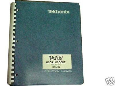 Tektronix 7633r7633 Storage Oscope Service Manual