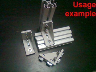 Aluminum T-slot Profile 90 Deg Corner Bracket 40x80-8mm Screws T-nuts 4-set