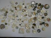 Vintage Carved MOP Button Lot