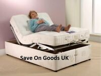 Ex Demo, Unused. 4ft6 double size electric adjustable bed. Mattress and bed base