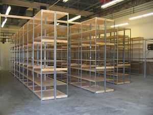 Commercial Strength Metal Shelving with Pressboard Inserts