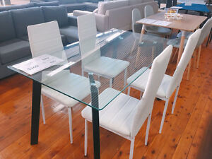 High Gloss Glass Dining Table