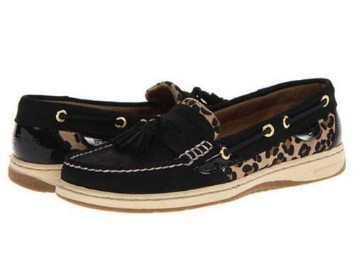 Sperry Black Leopard Flats Amp Oxfords Ebay