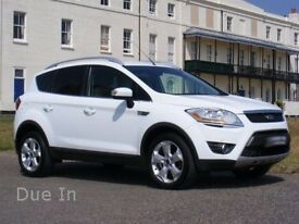Due In::::2010 Ford KUGA Zetec 2.0TDCi, Recent Service, NewMOT, Drives Faultlessly, in Ice White