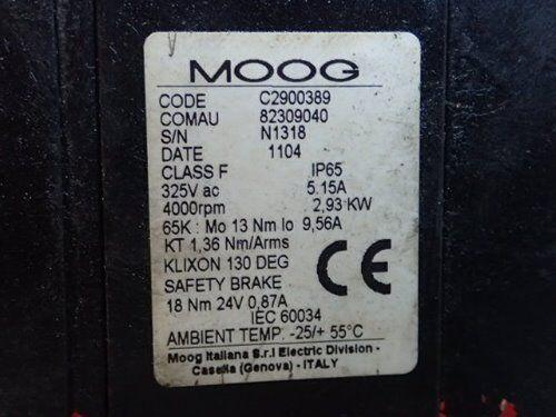 Used Moog C2900389 Ac Servo Motor,comau 82309040, 325vac,rpm 4000,ap