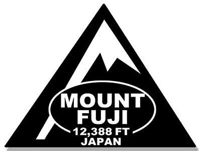 3x4 inch Triangle Shaped Mount Fuji Sticker (Climbed Feet Climb Hike Japan mt)