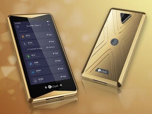 New ELLIPAL GOLDEN Titan Crypto Wallet ⭐ Cryptocurrency Hardware Wallet ⭐
