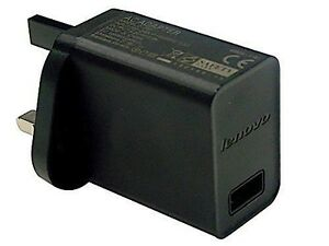 Genuine Lenovo Tab 2 A7-20 A7-30 A10-30 UK AC Adapter Charger 5.2V 2.0A C-P37