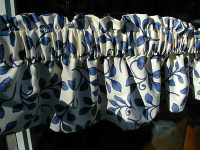 """pfaltzgraff Orleans 49"""" Valance 3"""" rod pocket, Special Made Cotton, Kitchen, used for sale  Woodstock"""