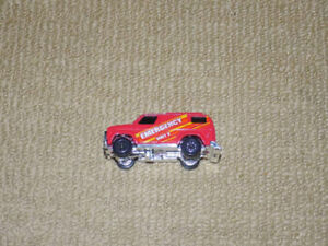 1980, KENNER FAST 111'S RED CHEVY EMERGENCY VAN DIECAST CAR