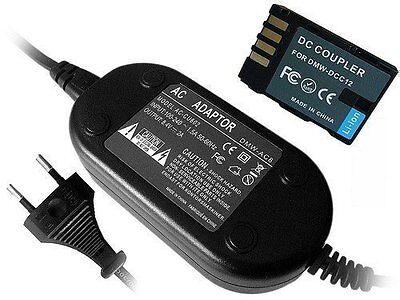 Netzteil für Panasonic DMC-GH5 GH3 GH3A DMC-GH4 GH4A DMW-DCC12 DCC12E mit Kupler