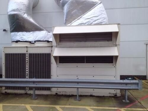 HUSHON DUCTED PACKAGED AIR CONDITIONER HEAT PUMP SYSTEM, 108 KW CAPACITY