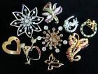 Vintage Enamel Flowers Rhinestone