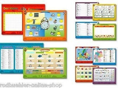 Lernkarte Lerntafel Übungstafel 2er Set 4 tlg. Lernspiel wisch und weg Tafel