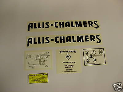 Allis Chalmers Model G Tractor Decal Set New - Free Shipping