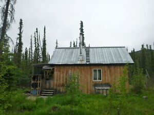 Off grid cabin on 2.7 acres in West Dawson