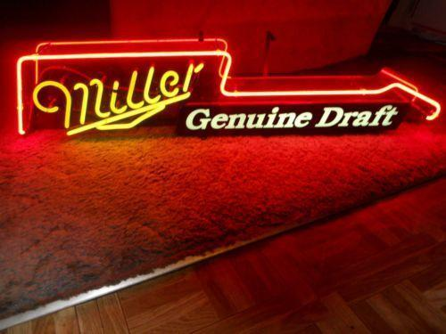 Vintage Miller Beer Neon Sign