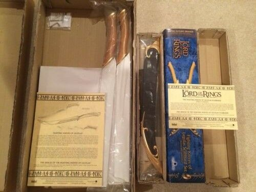 Lord of the Rings Fighting Knives of Legolas UC1372WGNB Scabbard Set UC1381LTNB