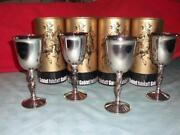 Falstaff Silver Plated Goblets