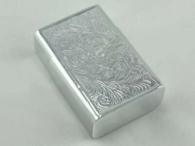 Vintage Aluminum King Cigarette Pack Case Holder Etched Light Weight Silver Tone (Flatware Case Pack)