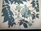 Japanese Woodblock Print Flower