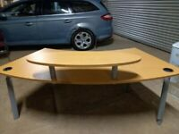 Quality Beech Curved Reception Office Home Used Desk