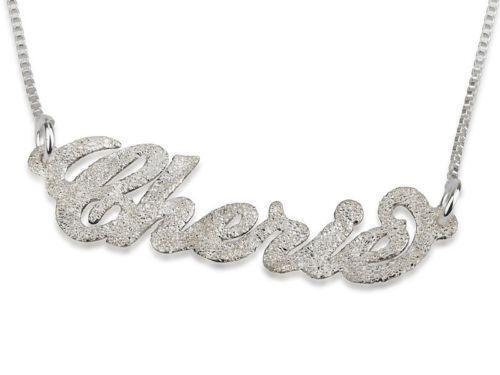diamond name necklace ebay. Black Bedroom Furniture Sets. Home Design Ideas
