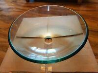 Clear Glass 49cm Wash Bowl / Sink / Basin Round Bathroom En-suite Kitchen NEW BOXED