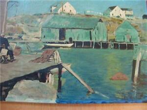 TWO PAINTINGS OIL ON BOARD SIGNED CHI KIILIN