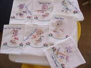 Hand Embroidered Dish Towels