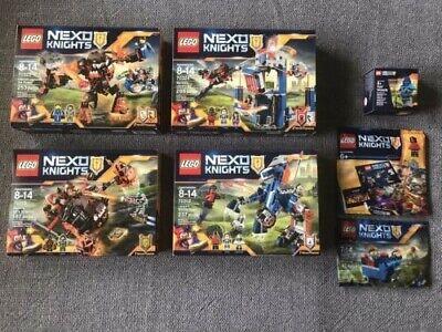 Lego Nexo Knights Lot of 7 Brand New/Sealed 70312, 70313, 70324, 70325, 30372