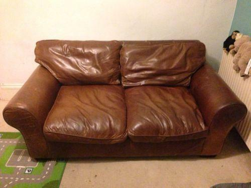 Laura Ashley Leather Sofa Ebay