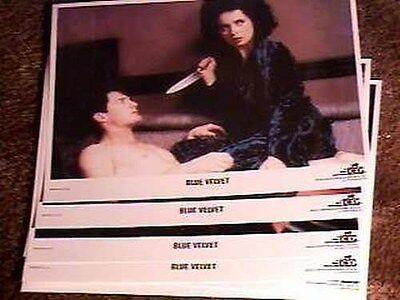 BLUE VELVET 5 DIFF LOBBY CARDS 11X14 DAVID LYNCH 1986