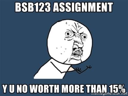 BSB123 Data Analysis: Tutoring