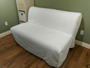 ikea lycksele futon with new Ransta white cover