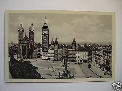 AK Königgrätz Altstadt Großer Ringplatz 1942 Feldpost