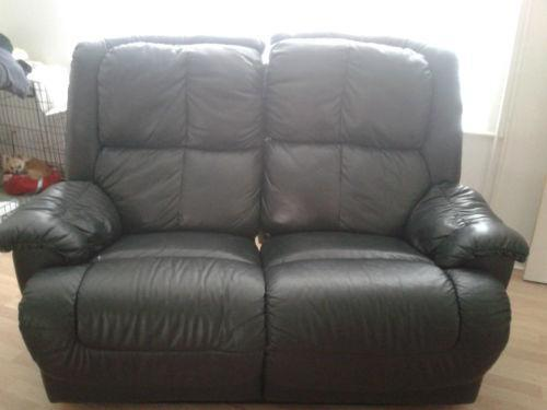Used Leather Reclining Sofa Ebay