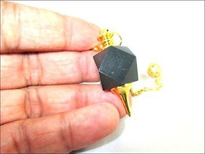 Хрусталь Jet Black Tourmaline Hexagon Pendulum