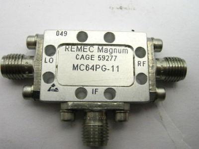 Remec Magnum Microwave Rf Doublebalance Mixer Mc64pg 6-12.5ghz 10dbm Sma