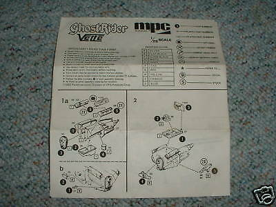 MPC 1/25 Ghost Rider Vette   Instructions C.