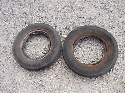 Farmall Ih Allis Chalmers Ac Jd Tractor 5.00 X15 Front 4-ply Tires Tubes