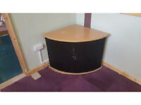 Wooden Corner Office Cupboard