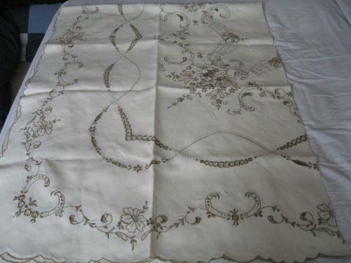 Hand Embroidery Tablecloth Ebay
