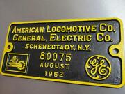 Locomotive Builders Plate