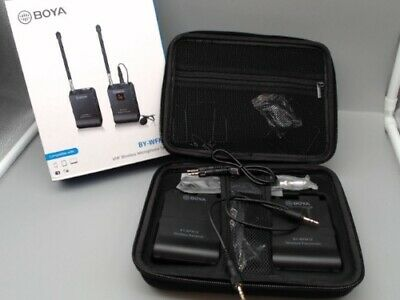 BOYA BY-WFM12 WIRELESS MICROPHONE SYSTEM TRANSMITTER RECEIVER